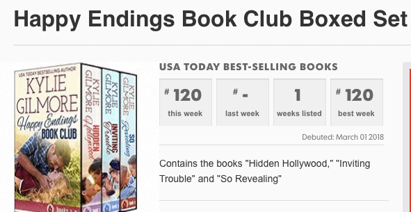Happy Endings Book Club on USA Today Bestseller list