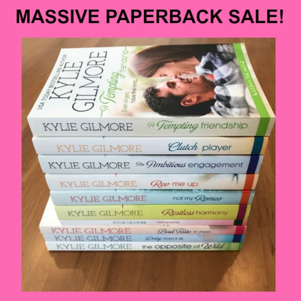 paperback sale by kylie gilmore